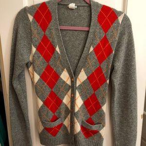 J. Crew Cashmere Argyle Sweater